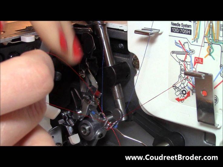 Comment effectuer l'enfilage de sa surjeteuse Bernina 800DL