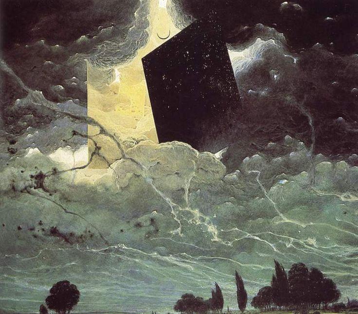 Zdzisław Beksiński - olej, płyta pilśniowa, 1979
