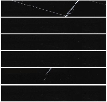 """Nero Marquina (Black Marble) 2 x 12"""" Honed Marble Tile"""