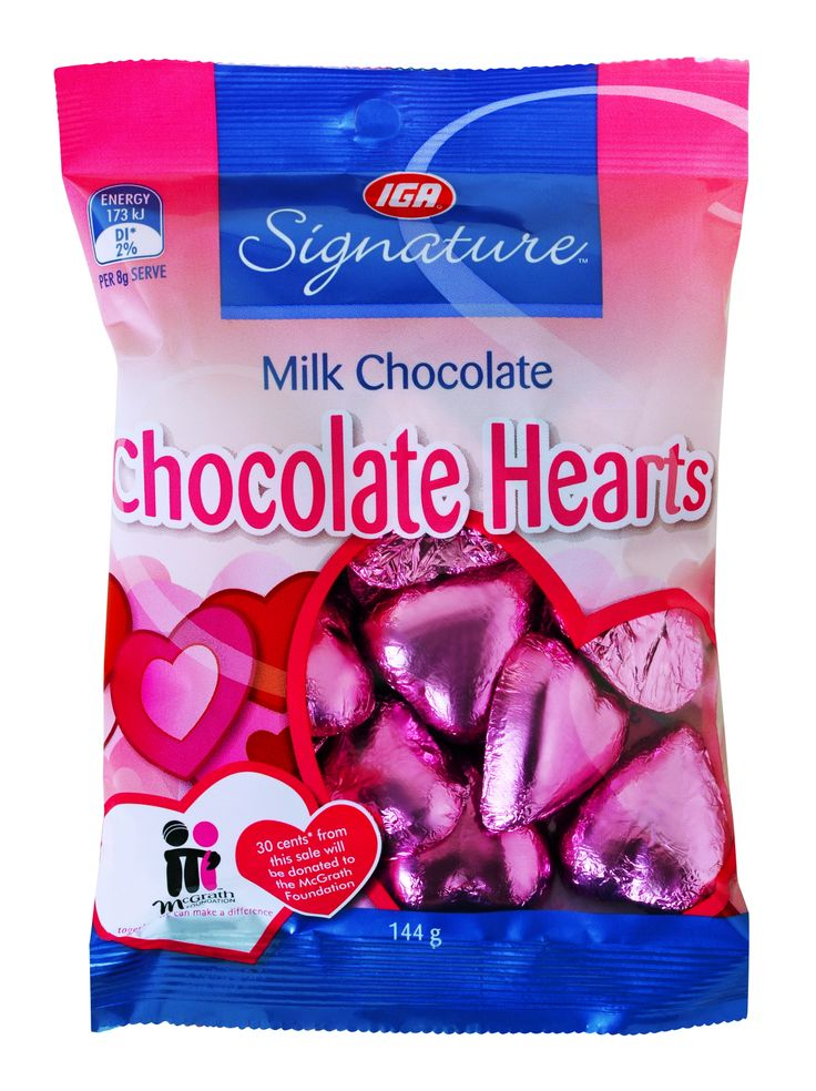 Sweeten your mum's Mother's Day with these adorable and delicious chocolate hearts! They are available at IGA supermarkets and 30 cents of each purchase is donated to the McGrath Foundation!