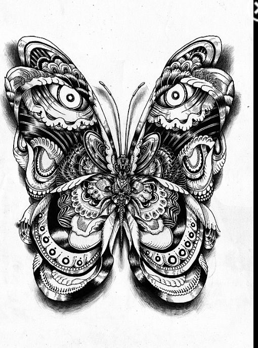 Drawing Ideas Butterfly Drawing Art Ideas Pinterest
