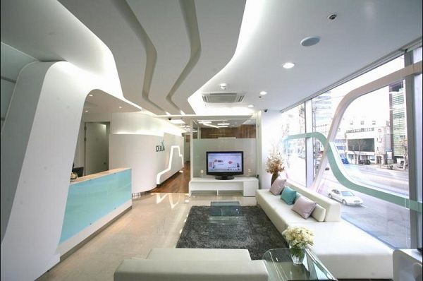 Clinic with modern and white office design chic clinics for Modern clinic design