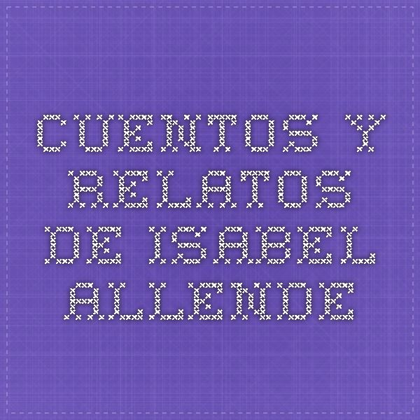 isabel allende short stories pdf