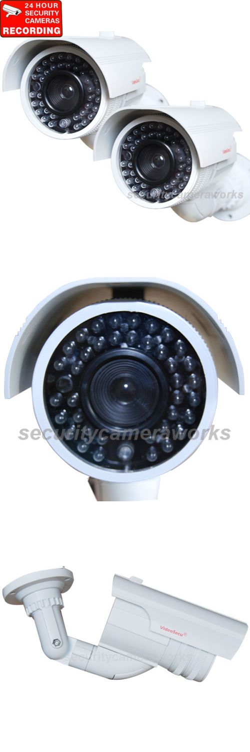Dummy Cameras: 2 Dummy Security Cameras Fake Imitation Ir Leds Flashing Light Surveillance Bbi -> BUY IT NOW ONLY: $52.9 on eBay!
