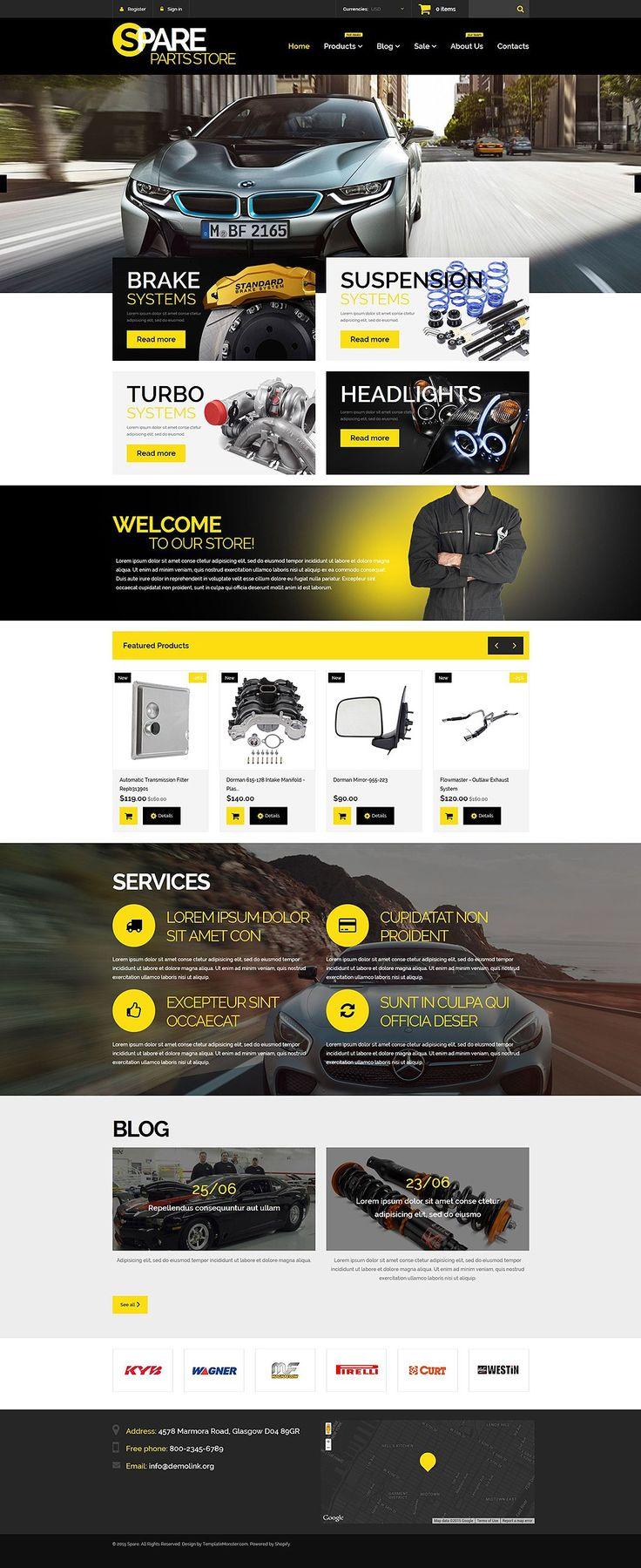 12 best car automotive shopify ecommerce themes auto parts store theme for