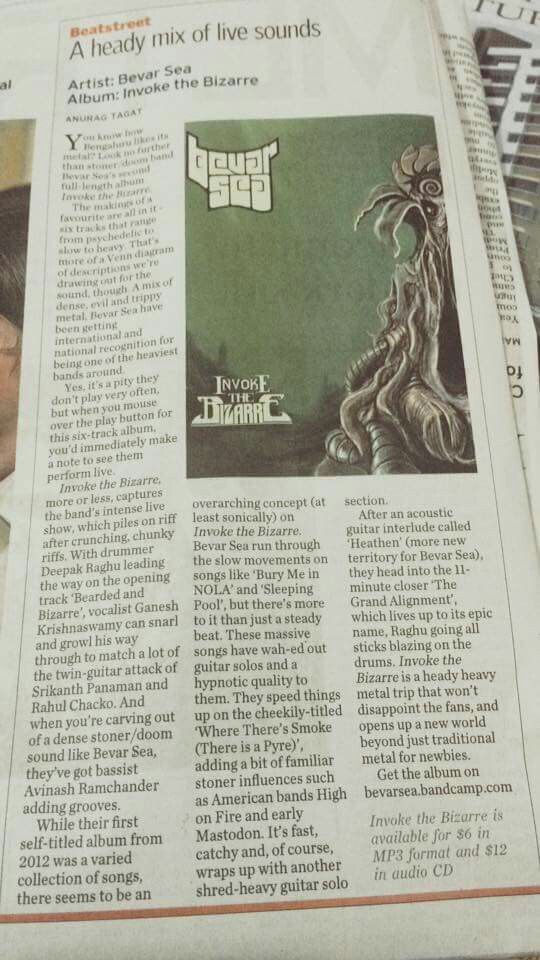 Album review in The Hindu, a widely circulated daily in India.