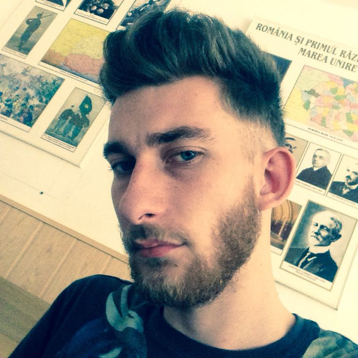 Hairstyle with beard!