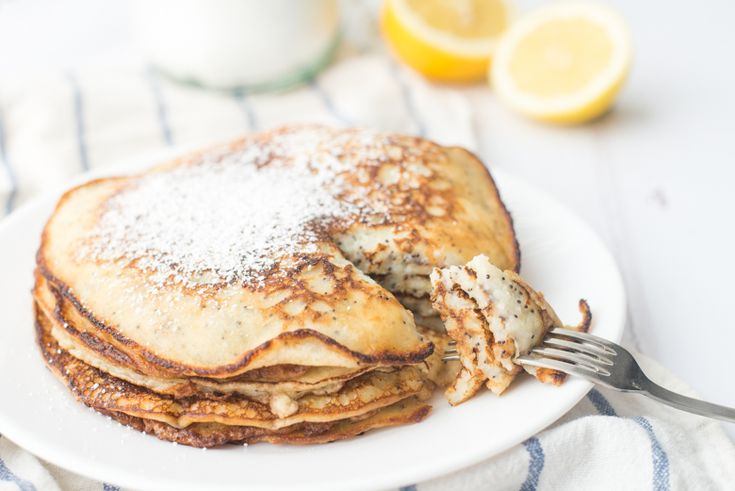 Lemon & Poppyseed Pancakes
