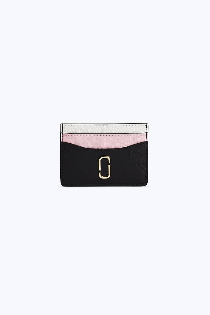 buy popular 762c5 1b1ad Marc Jacobs Snapshot Card Case in Black/Baby Pink | Marc Jacobs Bags ...