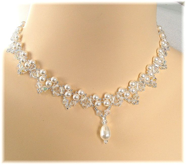 Choice of White or Cream Pearls and Crystal by BridalDiamantes