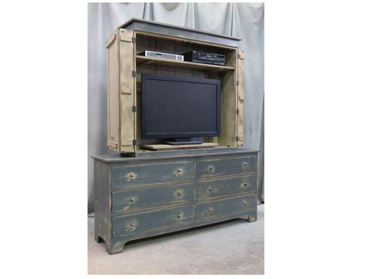 Lo antiguo el mueble bello, y lo moderno...