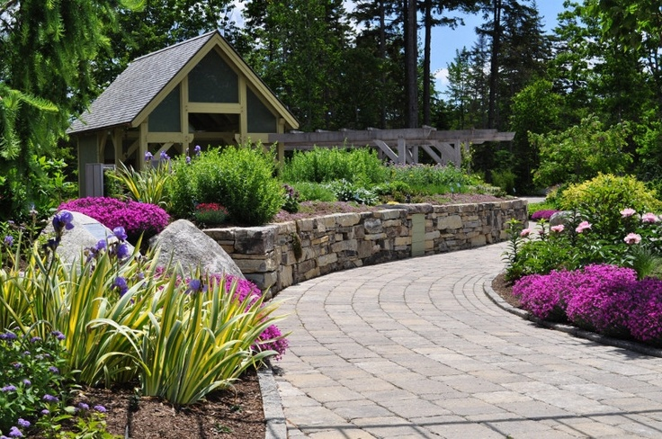 Landscaping Stones Portland Maine : Picturesque pathway winding throughout coastal maine botanical gardens