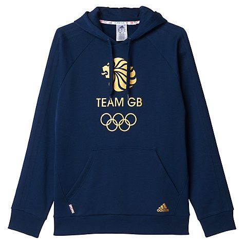 Buy Adidas Team GB Men's Hoodie, Navy/Gold Online at johnlewis.com
