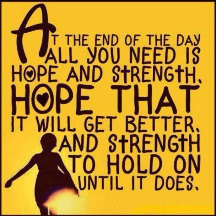 Hoping For Better Days Quotes: Quotes About Hope And Strength. QuotesGram