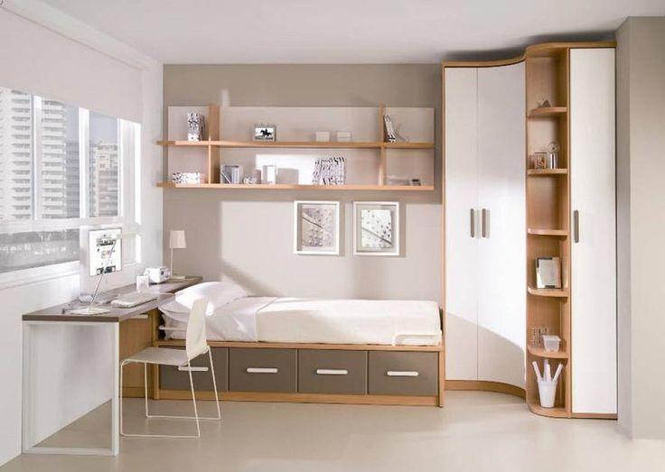 Madera y blanco dormitorio infantil