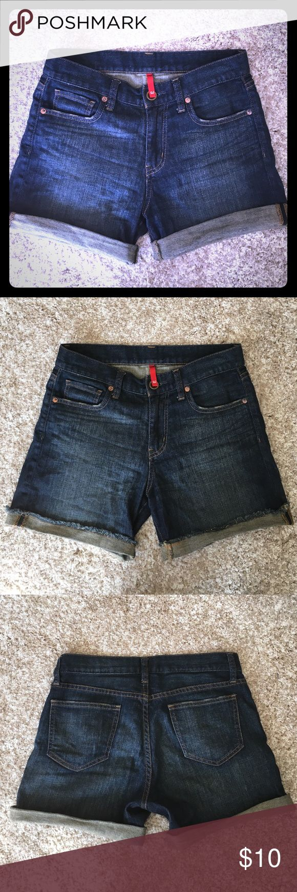 Uniqlo jean shorts Uniqlo Jean shorts, relaxed fit. Can keep medium length to show the frayed design, or roll up to desired height. The size on tag says 150/56A, but it's equivalent to size 24 or 25. Uniqlo Shorts Jean Shorts