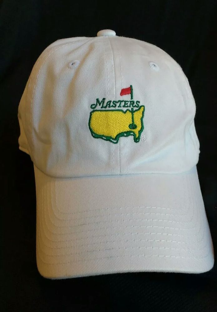 80182bb5c1727 Masters White Slouch Golf Hat from Augusta National Embroidered Masters w    golfhat