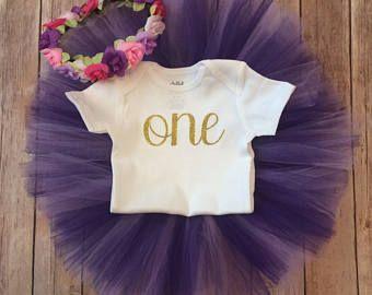 Eerste verjaardag Outfit meisje, paars en goud meisje, paarse Baby, Smash taart meisje, 1e verjaardag meisje Outfit, de eerste verjaardag meisje Outfit