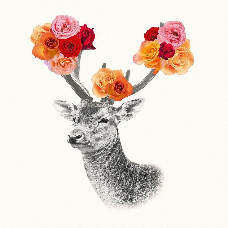 Eine Skizze von einem Hirsch mit Blumen im Geweih. Ein Deco Block ist ein hochwertiges Fertigbild für ihr Zuhause, ihre Geschäftsräume oder zum Verschenken. Das Motiv wird in einem Vierfarb-Offsetdruckverfahren gedruckt. Extra gestrichenes Glanzpapier garantiert eine gleichbleibend hohe Qualität bei tiefer Farbwiedergabe und satter Farbbrillanz. Der fertige Druck wird auf eine MDF Platte aufg...