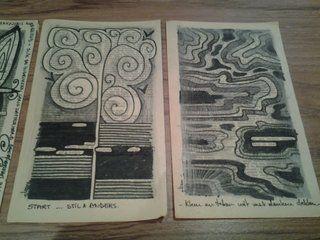 Mix media doodles geïnspireerd door oude boeken by Eliane Kunnen ... leer mindful droedelen,  meer info over workshop voor beginners en gevorderden #bronkracht #Creatiefverstillen