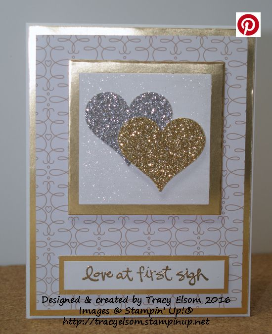 Simple wedding or engagement card created using the Greatest Greetings Stamp Set from Stampin' Up!  http://tracyelsom.stampinup.net