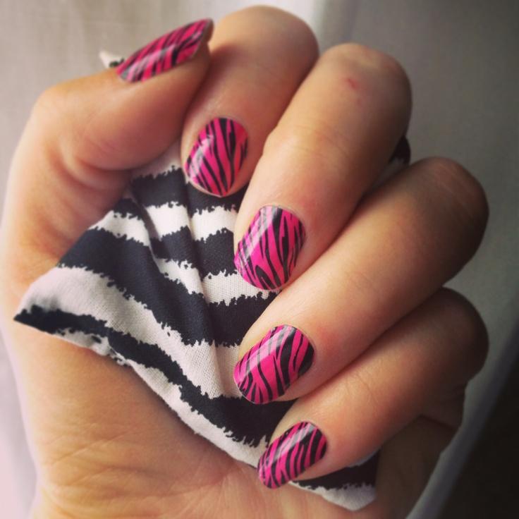 Pink & Black Tiger Jamberry Nail Shields Www.asickmiller