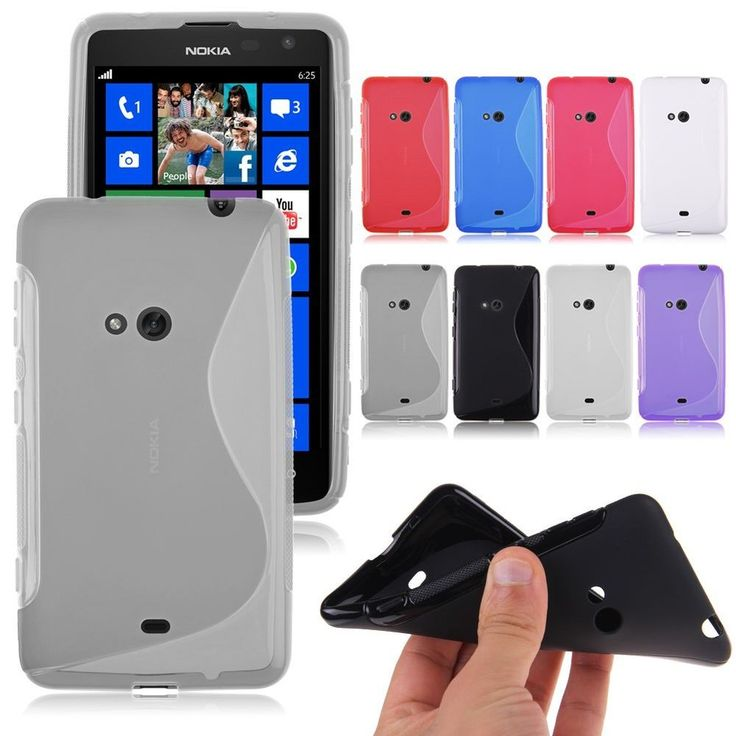 Soft TPU Gel Silicone Matte Clear Case Cover Skin For Nokia Lumia 625 S Line #Unbranded