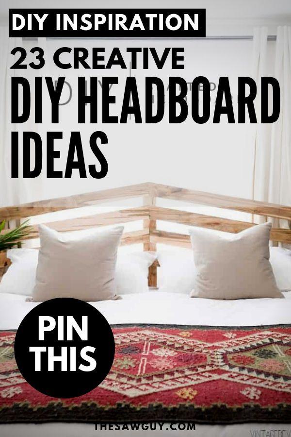 23 Diy Headboard Ideas Creative Inspiration For Your Bedroom Diy Headboards Unique Headboards Creative Headboards Diy