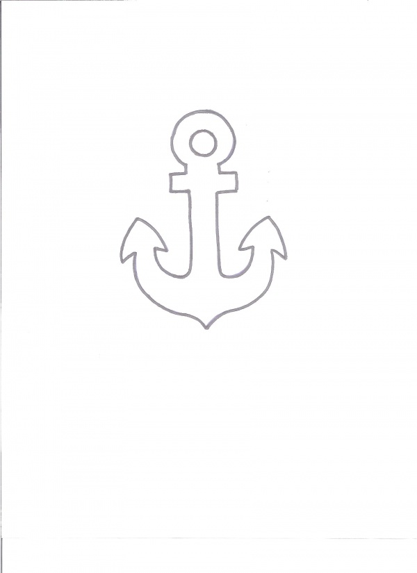 anchor  sketch -- maybe for freezer paper stenciling