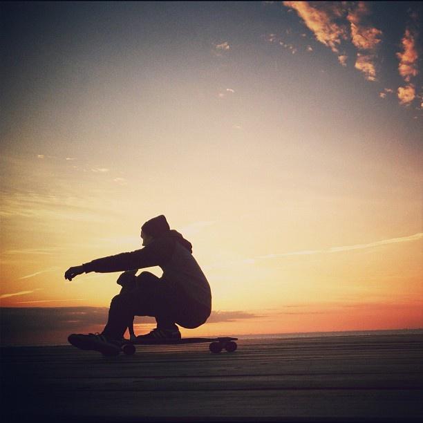 Evening longboarding