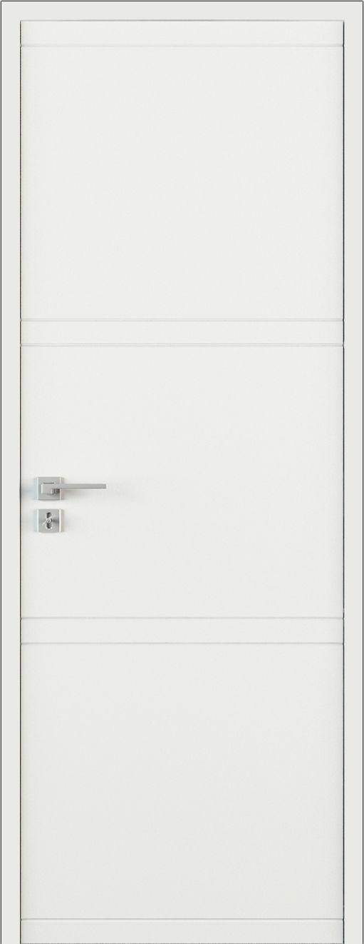 Drzwi ekskluzywne klasyczne lakierowane wewnętrzne drewniane na wymiar białe/szare LR30