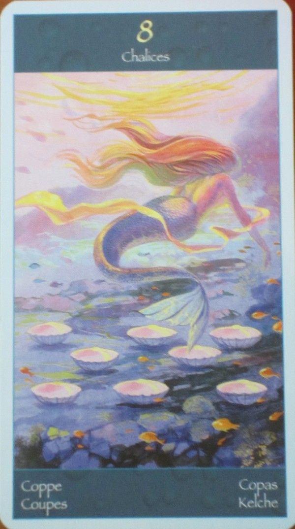 13 Best Tarot Cards Of Pisces: 8 Of Cups Images On