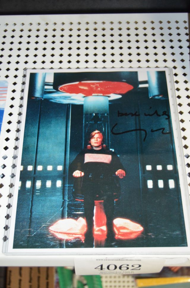"""8 x 10 photo still of Michael York from the motion picture, """"Logan's Run"""" signed and authenticated with certificate of authenticity by PJs collectibles"""