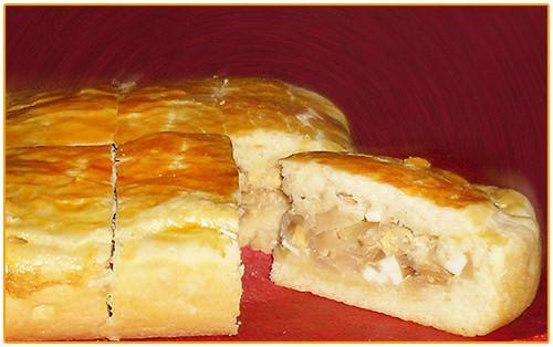 Пирог с капустой и яйцом, на дрожжевом тесте