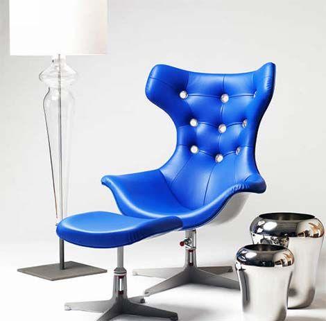 Elegant Evitavonni Blue Chair Good Ideas