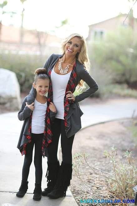Kışlık Anne Kız Kombinleri – Anne Kız Kıyafetleri