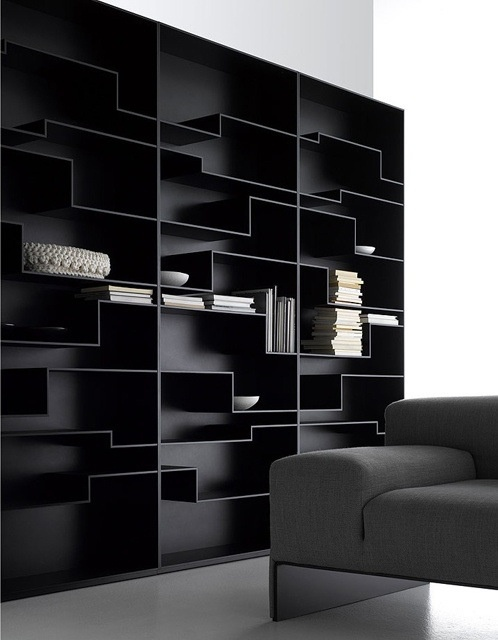 I really like black shelves   Fill it with books, and you have a great home library!