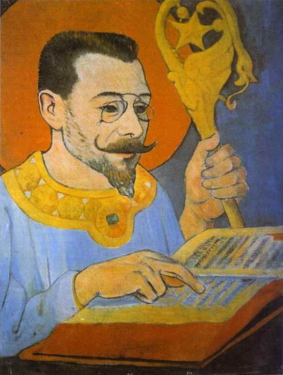 Paul Serusier (French:1864 – 1927) - Portrait of Paul Ranson Dressed as a Prophet, 1890