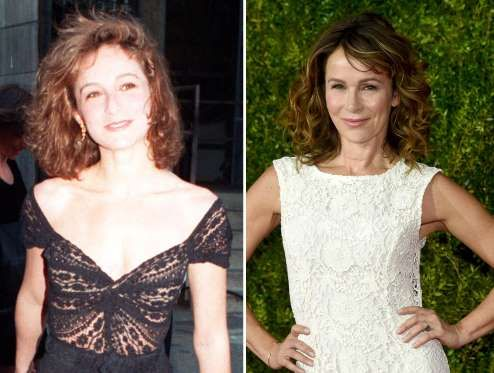 Jennifer Grey (1988, 2015) - AP Photo; Dimitrios Kambouris/Getty Images for Tony Awards Productions