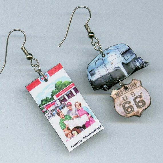 Airstream+Earrings+Vintage+RV+trailer+MAP+by+DesignsByAnnette,+$17.00