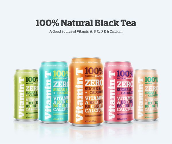 VITAMIN T / 100% NATURAL BLACK TEA by Emanuel Cohen, via Behance