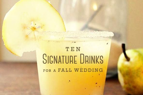 Signature Drinks for Your Fall Wedding