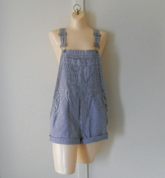 Womens Overalls Shorts Over Alls Womens by TheVilleVintage on Etsy, $42.79