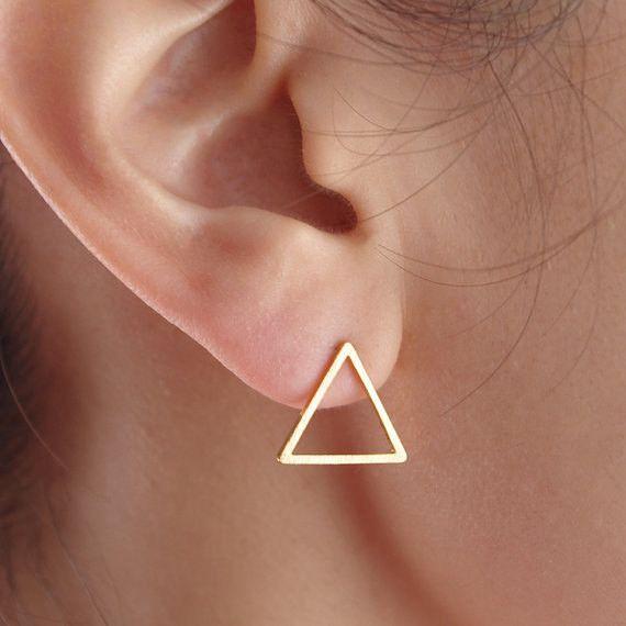 driehoek+oorbellen,+driehoek+oorknopjes,+oorknopje+van+Superarmband+op+DaWanda.com
