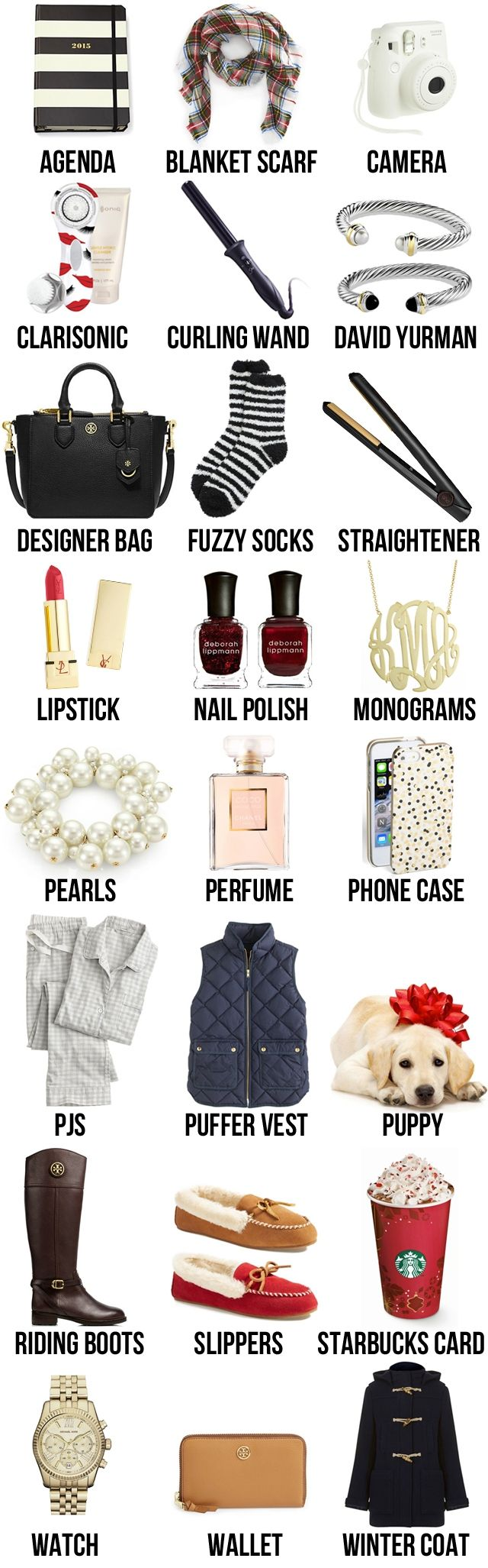 Stumped on what to ask for this Christmas? This list has everything… for all your basic white girl needs;)