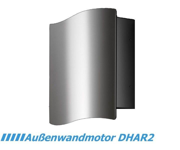 Externer Außenwandmotor für Dunstabzugshauben DHAR2. Dieses leistungsstarke externe Gebläse wird an der Hauswand oder auf dem Dach montiert. Mit ei...