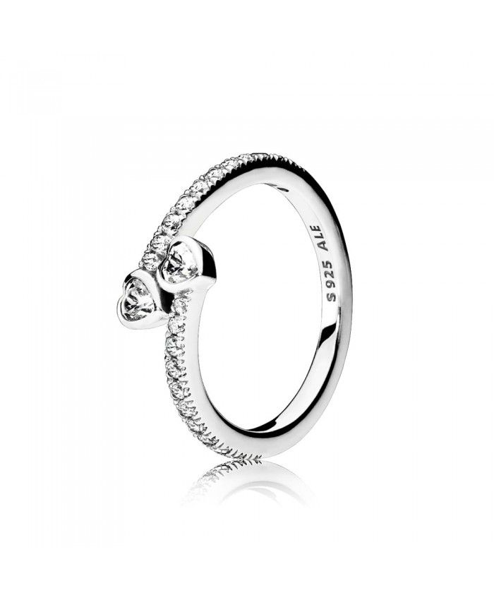 Pandora Forever Hearts Silver Ring 191023CZ UK