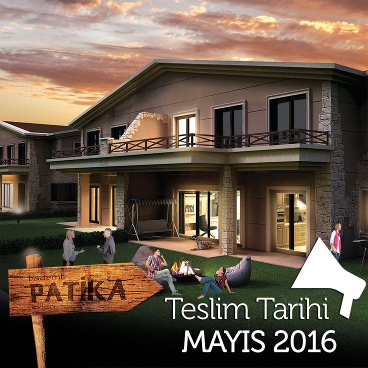 24 adet villadan oluşan Bademli Patika Evlerinin teslim tarihi Mayıs 2016 olarak belirlendi. #bursa #bademli #patika #lansman #teslim #proje #ev #villa