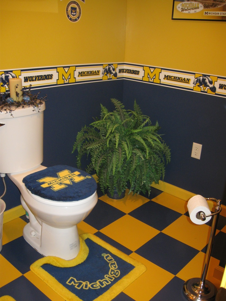 Yes, a true Michigan Fan.....This, thank goodness is in the Man-Cave area downstairs.