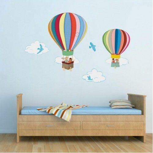 Hot Air Balloon Wall Sticker (Large)
